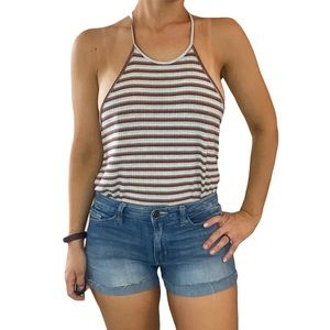 Lush Striped Tank Top Red, White, and Blue Sm